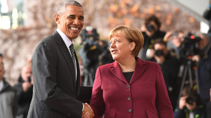 Obama spotkał się z Merkel i przywódcami czterech innych krajów UE