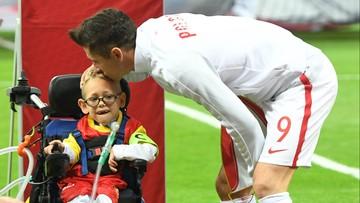 """""""To mój kolega. Mam nadzieję, że jego marzenie się spełniło"""". Lewandowski o kilkuletnim Franku"""