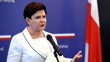 Szydło zdziwiona oświadczeniem KE ws. deklaracji z Forum Pasa i Szlaku