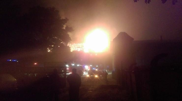 Pożar budynku w Nowej Ziemi