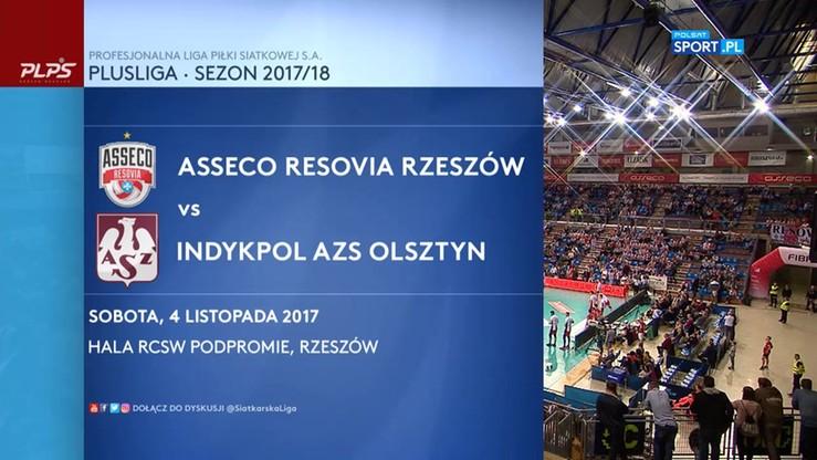 Asseco Resovia - Indykpol AZS Olsztyn 3:0. Skrót meczu