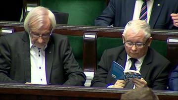 Jarosław Kaczyński czytał w Sejmie