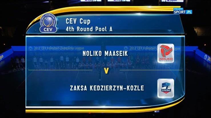 Noliko Maaseik - ZAKSA Kędzierzyn-Koźle 0:3. Skrót meczu