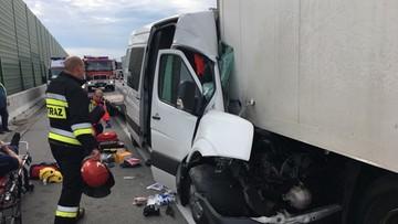 06-06-2017 10:43 Wypadek na A2. Autostrada zamknięta przed granicą z Niemcami
