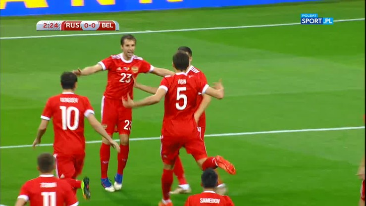 Rosja - Belgia 3:3. Skrót meczu
