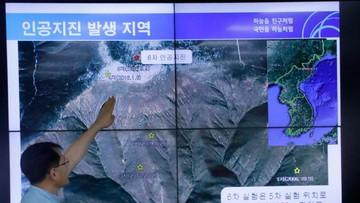 """03-09-2017 17:11 """"Pogrążmy Pjongjang w kompletnej izolacji"""" kontra """"zachowajmy zimną krew"""". Reakcje świata na próbę atomową Korei Płn."""