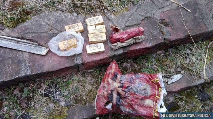 8 kg narkotyków i 2 kg materiałów wybuchowych znalezione w Skarżysku–Kamiennej