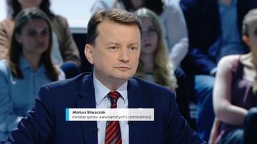 """19-04-2017 23:00 """"Nie będzie zgody na przyjmowanie imigrantów"""" Błaszczak ostrzega przed """"szturmem polskiej granicy"""""""