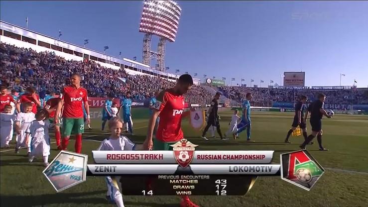 Zenit St. Petersburg - Lokomotiv Moskwa 1:1. Skrót meczu