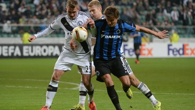 LE: Legia zremisowała w Warszawie z FC Brugge 1:1