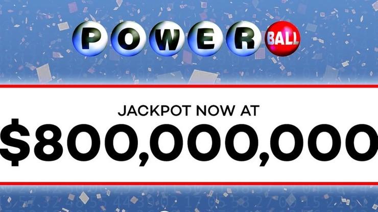 800 mln dolarów do wygrania w loterii Powerball. Rekordowa kumulacja