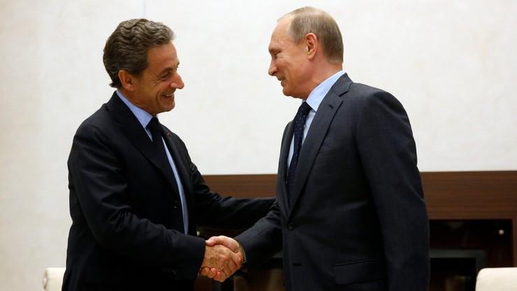 Nicolas Sarkozy w Moskwie chwalił politykę Putina