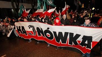 26-02-2017 19:02 Marsz Żołnierzy Wyklętych w Hajnówce. Na trasie kontrmanifestacja