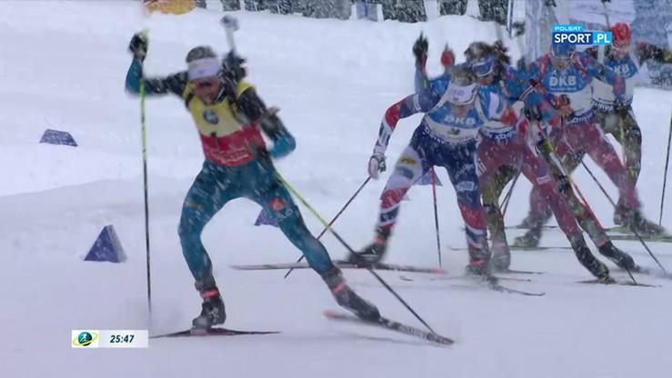 PŚ w biathlonie: Kolejne zwycięstwo Fourcade'a. Skrót biegu na dochodzenie