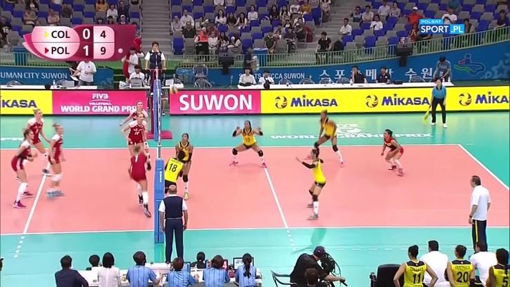 World Grand Prix: Widowiskowa akcja w meczu Kolumbia - Polska