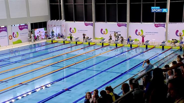 2017-07-21 TWG: Rekord świata Senanszky w pływaniu po powierzchni wody z użyciem Bi Fins na 50 m