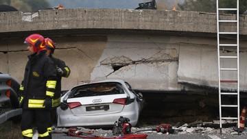 Włochy: runął wiadukt na drodze. Jedna osoba nie żyje, wśród rannych jest troje dzieci