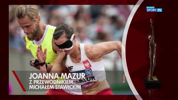 Joanna Mazur z przewodnikiem Michałem Stawickim sportowcem niepełnosprawnym roku