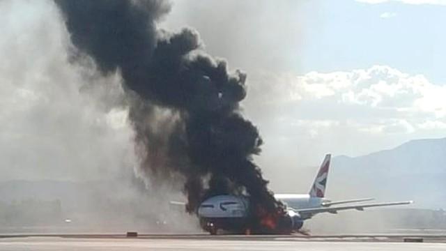 USA: samolot British Airways zapalił się przed startem w Las Vegas