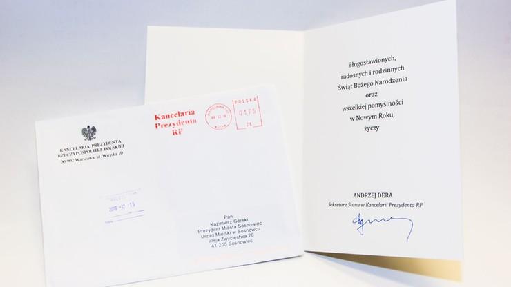 Kancelaria Prezydenta wysłała życzenia do władz Sosnowca. Ale - do byłych