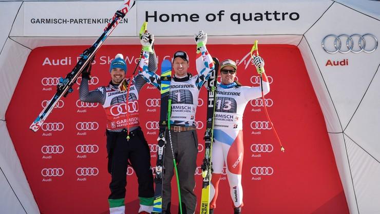 Alpejski PŚ: Reichelt wygrał zjazd w Garmisch-Partenkirchen