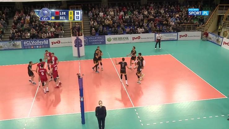 Lokomotiw Nowosybirsk - PGE Skra Bełchatów 3:0. Skrót meczu
