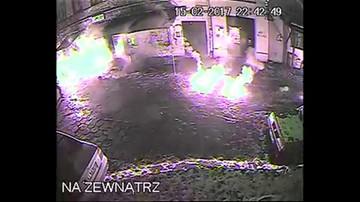 Zdemolowany klub na warszawskiej Pradze - film z monitoringu