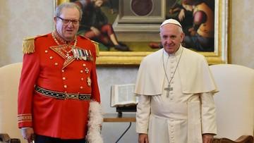 Papież przyjął dymisję Wielkiego Mistrza Zakonu Kawalerów Maltańskich