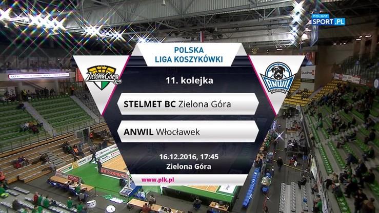 Stelmet BC Zielona Góra - Anwil Włocławek 82:74. Skrót meczu