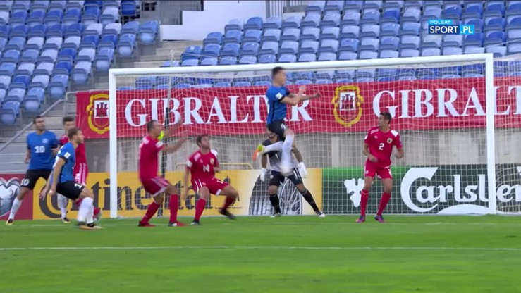 Gibraltar - Estonia 0:6. Skrót meczu