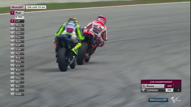 Rossi ukarany za starcie z Marquezem! Słusznie?