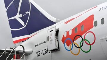 02-11-2017 14:07 Specjalnie ozdobiony kadłub i napis. Polska reprezentacja olimpijska będzie latać Dreamlinerem