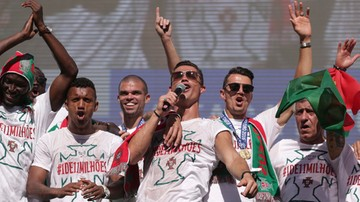 Euro 2016: Przyjazd mistrzów Europy sparaliżował Lizbonę