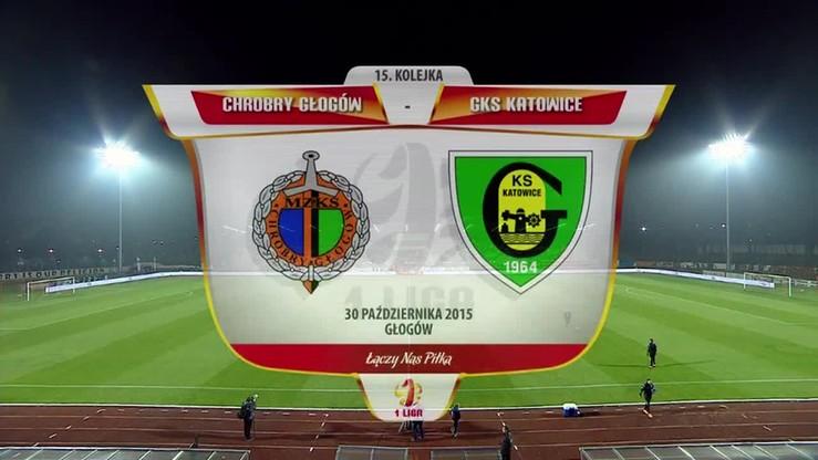 2015-10-30 Chrobry Głogów - GKS Katowice 0:0. Skrót meczu