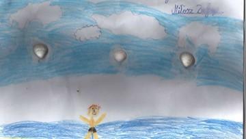 27-09-2016 12:50 Uratował tonące dziecko. W nagrodę dostał od 8-latka wyjątkowy rysunek