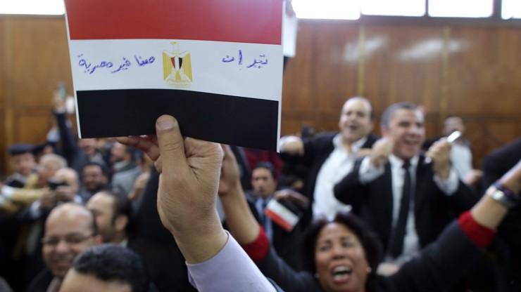 """""""Wyspy są egipskie!"""" Radość Egipcjan na sali sądowej"""