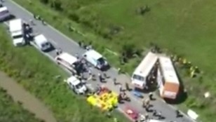 Argentyna: 13 ofiar zderzenia dwóch autobusów