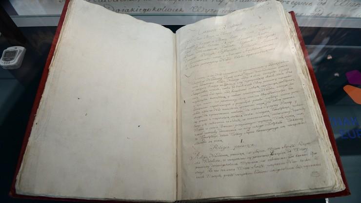 Tylko dziś można zobaczyć oryginalny rękopis Konstytucji 3 Maja