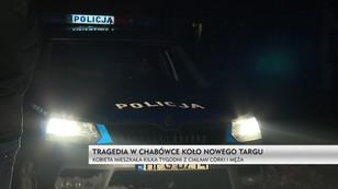 Tragedia w Chabówce koło Nowego Targu. Kobieta mieszkała ze zwłokami córki i męża