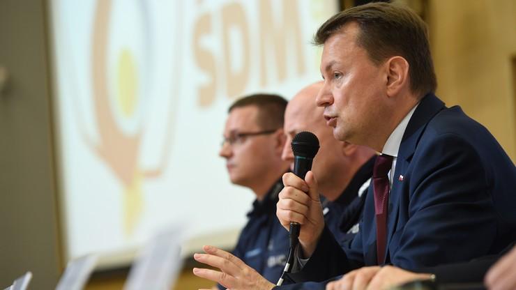 Błaszczak: ponad 39 tys. funkcjonariuszy stoi na straży bezpieczeństwa pielgrzymów