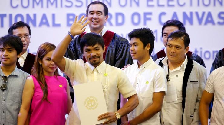 Słynny filipiński bokser Pacquiao został senatorem