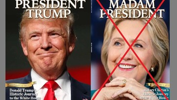 """10-11-2016 14:35 """"Newsweek"""" wycofuje 125 tys. egzemplarzy z Clinton na okładce"""