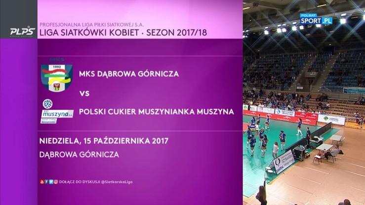 MKS Dąbrowa Górnicza – Polski Cukier Muszynianka Muszyna 2:3. Skrót meczu