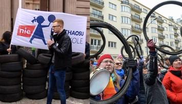 """25-03-2017 17:24 """"Przestali być grzeczni"""". Demonstracja przeciw reformie edukacji"""