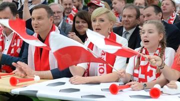 """17-06-2016 05:18 """"Chłopaki dali z siebie wszystko"""". Prezydent po meczu Niemcy - Polska"""
