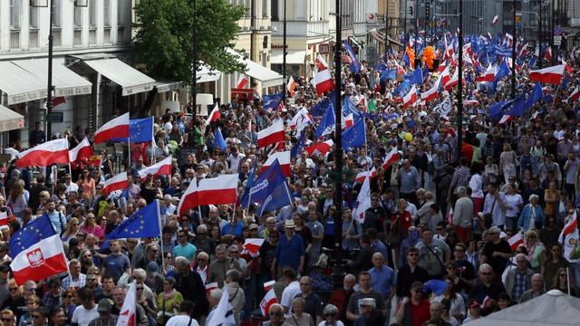 Niemiecka prasa o marszu KOD: To nie bunt przeciw rządowi lecz skutek podziałów