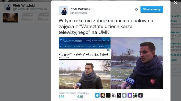 """""""Precz z propagandą"""". Poseł PO o TVP, która """"wymazała"""" serduszko WOŚP z jego kurtki"""