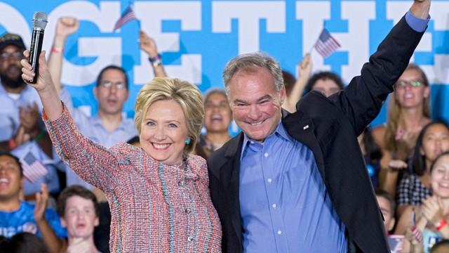 Clinton: Senator Kaine kandydatem na wiceprezydenta