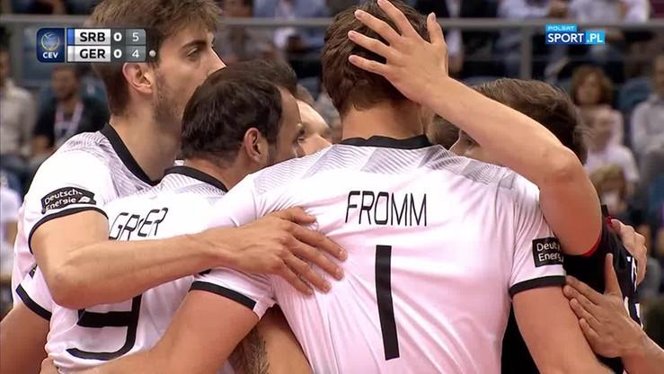 Serbia - Niemcy 2:3. Skrót meczu