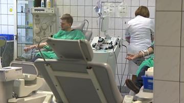 Akcja oddawania krwi w ramach protestu lekarzy rezydentów